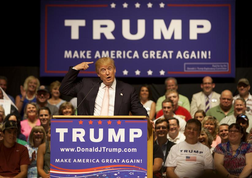 Donald Trump beim Wahlkampf