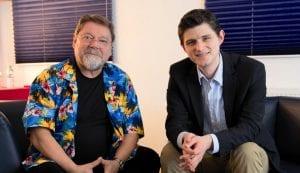 Jürgen von der Lippe mit Verleger Julien Backhaus