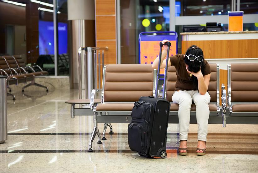Flugverspätung Geschäftsreise