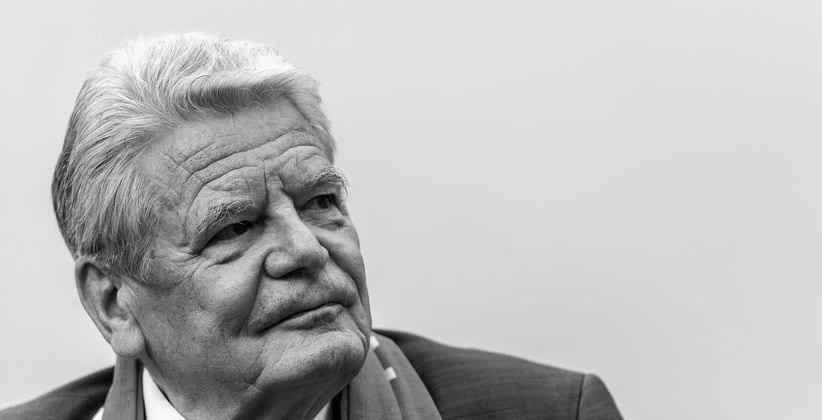 Joachim Gauck Schwarz Weiss Foto Toleranz Intoleranz